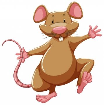 高兴的卡通老鼠图片免抠矢量图素材