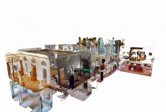 一个3D立体博物馆png图片素材