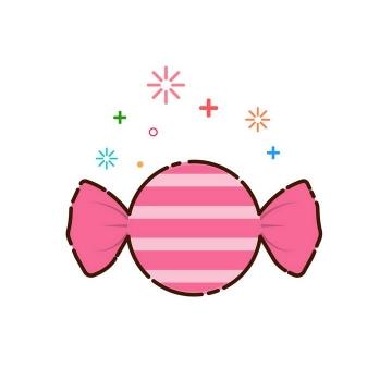 MBE风格粉色包装的糖果零食图片免抠素材
