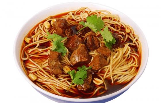 一碗美味的的牛肉重庆小面美食面条png图片免抠素材