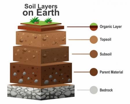 土壤分层结构底土层心土层表土层地理png图片免抠矢量素材