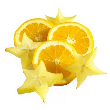 切片的橙子和杨桃2976606png图片素材