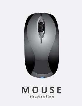 一款简约风格的无线蓝牙鼠标图片免抠矢量图素材