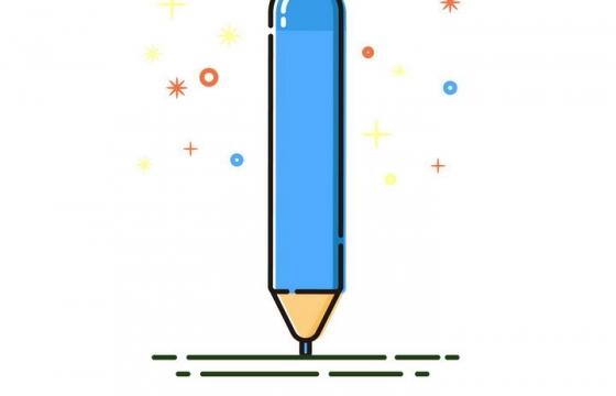 MBE风格蓝色的铅笔文具图片免抠素材