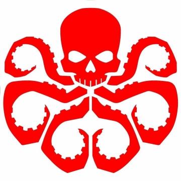 漫威中的反派组织九头蛇标志LOGO图片免抠素材