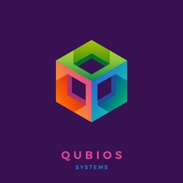 彩色镂空立方体logo设计方案图片免抠矢量图素材