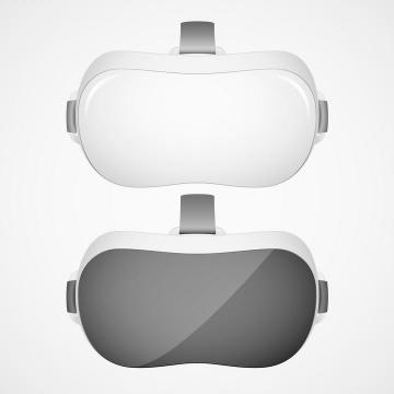 两款黑白色的VR眼镜虚拟现实技术图片免抠素材