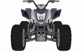 四轮越野摩托车沙滩车正面图png图片素材