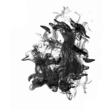 黑色的墨汁烟雾效果105313png图片素材
