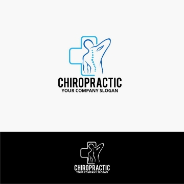 颈椎病保健logo设计方案图片免抠素材