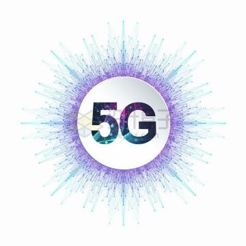 5G通信技术图标科技线条装饰png图片免抠矢量素材