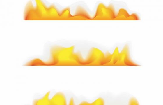 燃烧的黄色火焰火苗png图片免抠矢量素材
