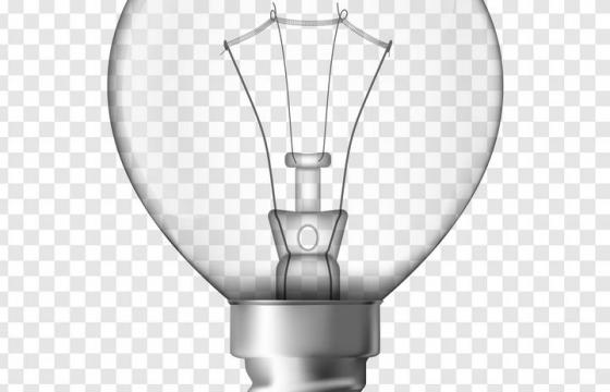 一颗白炽灯电灯钨丝灯灯泡图片免抠素材