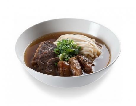 一碗美味的牛肉汤面美食面条png图片免抠素材