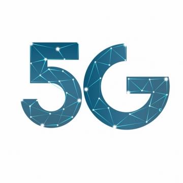 蓝色点线组成的5G字体758983png图片素材