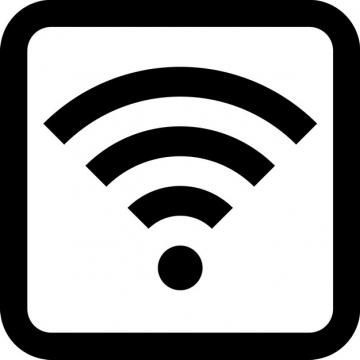 黑色边框免费wifi标志图标png图片素材459905