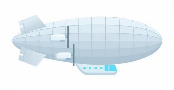 扁平化风格银色飞艇png图片免抠eps矢量素材