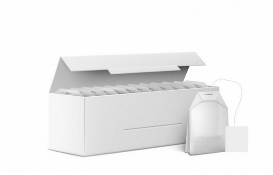 空白包装中的袋泡茶包茶叶饮料png图片免抠eps矢量素材