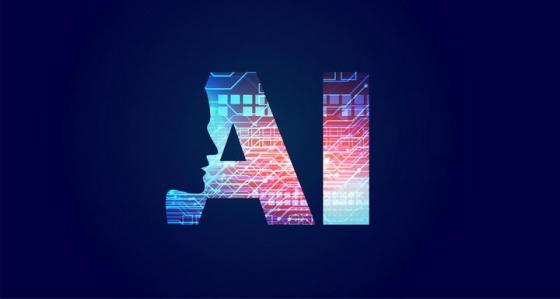 创意抽象人体脸部侧视图AI技术人工智能免抠矢量图片素材