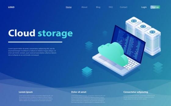 计算机安全网站云计算介绍页面设计方案图片免抠素材