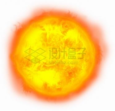 逼真的高清太阳发光发热宇宙星球png图片素材