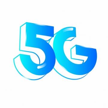 蓝色5G字体625501png图片素材