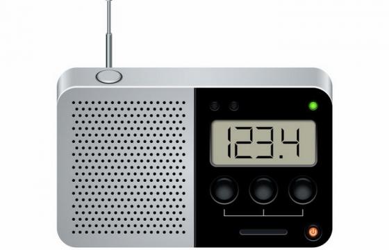 液晶显示功能调频无线电收音机png图片免抠矢量素材