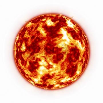 高清太阳耀斑细节图png图片素材