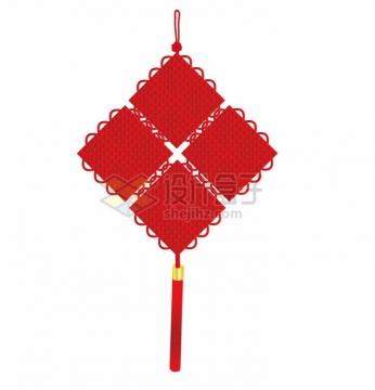 一款新年春节红色的中国结挂饰png图片免抠矢量素材