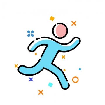 MBE风格跑步体育运动图标图片免抠素材