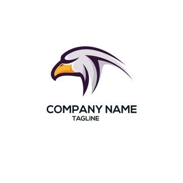 简约老鹰头部LOGO商标图片设计素材