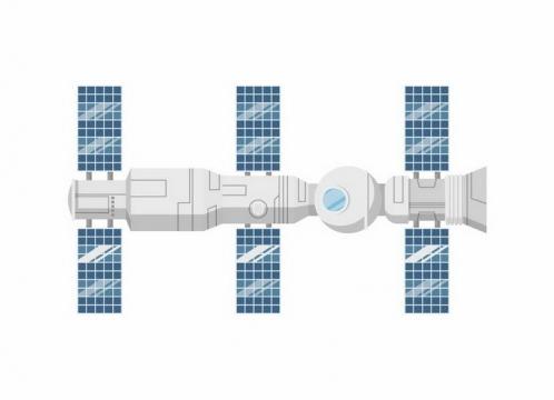 扁平化风格空间站太空站png图片免抠eps矢量素材