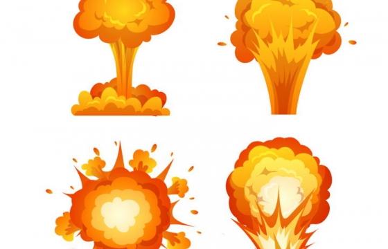 4款漫画风格爆炸效果图片免抠素材