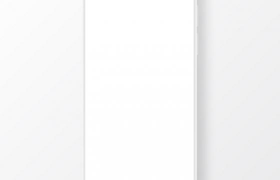 空白的全面屏手机图片免抠素材