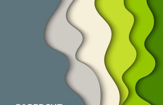 剪纸叠加风格绿色彩色边框装饰图片免抠素材