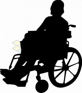 坐轮椅的残疾人剪影png图片素材65657781