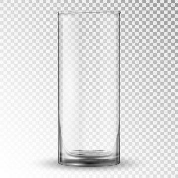 半透明的直筒杯水杯玻璃杯子图片免抠素材