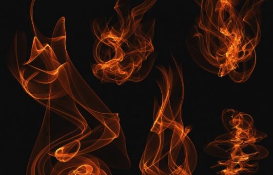 五种缥缈的红色火焰火苗图片免抠素材合集