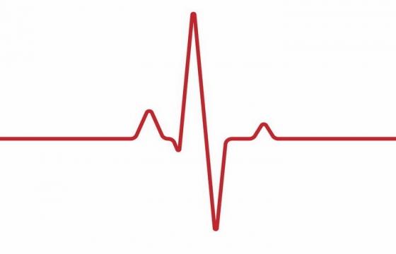 红色线条心跳图心电图图案png图片免抠eps矢量素材