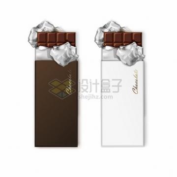 2种撒开锡纸包装的白色巧克力396254png图片素材