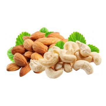 杏仁和腰果等干果美味零食831716png图片素材
