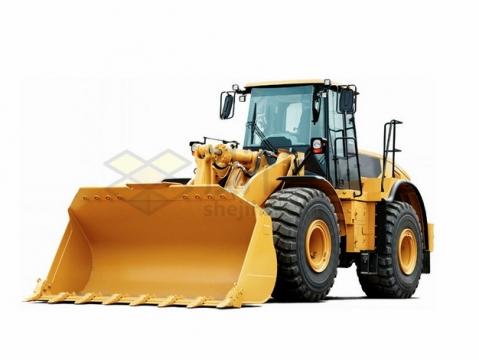 黄色的重型铲车推土机png图片素材