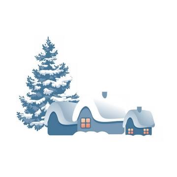 冬天可爱卡通雪屋免抠PNG图片素材