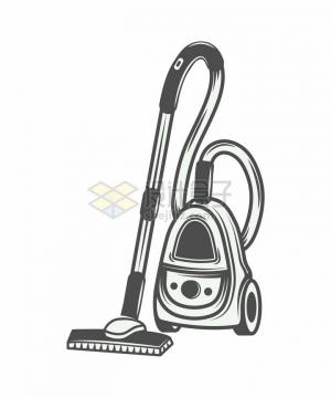 吸尘器手绘插画png图片素材