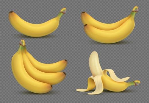 逼真的香蕉美味水果图片免抠素材