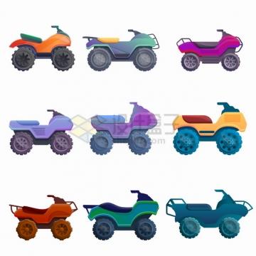 9款四轮越野摩托车沙滩车侧面图png图片素材