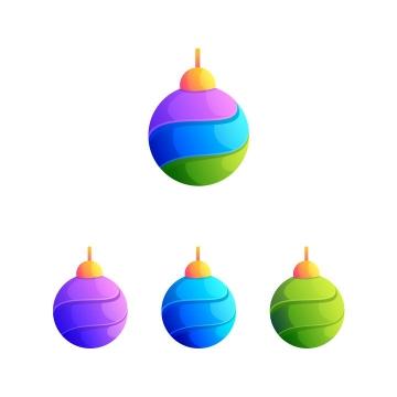 4种颜色的创意彩色圆球logo设计方案图片免抠矢量素材