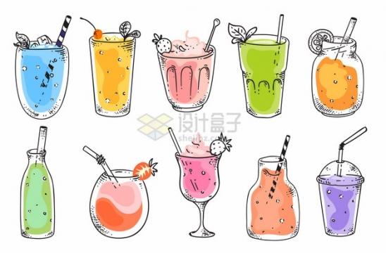 10款彩绘风格饮料冷饮949215png图片素材