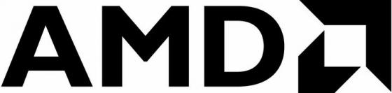 黑色AMD标志logo png图片免抠素材
