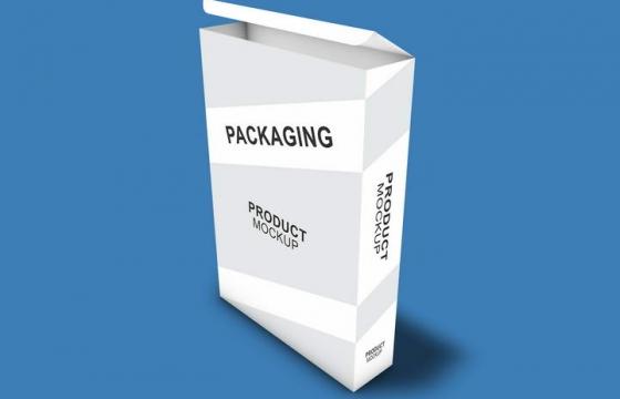 A4纸张包装盒样机图片免抠图案文字可更换设计素材